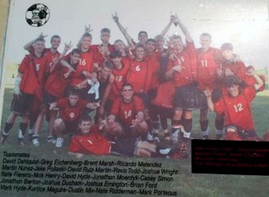 The 2005 Reed City boys' soccer team marked the third-consecutive season in which the Coyotes emerged as conference champions. (Courtesy photo)