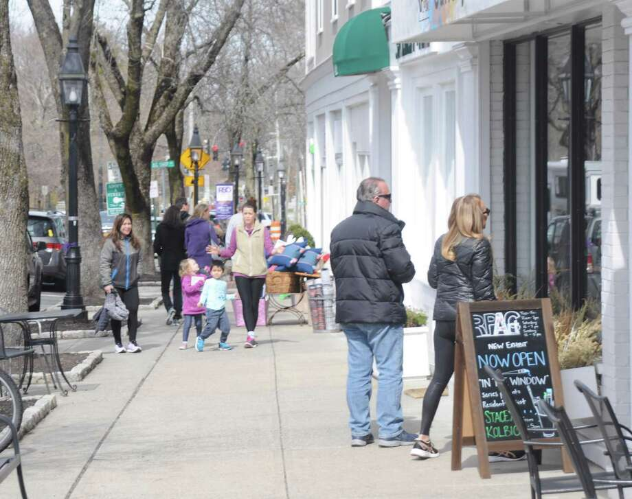 Ridgefield's Main Street commercial area is envisioned as benefiting from economic activity as part of a Cultural District that would run from the Cass Gilbert Fountain to Ballard Park over to the former Schlumberger property on Old Quarry Road. Photo: Macklin Reid / Hearst Connecticut Media