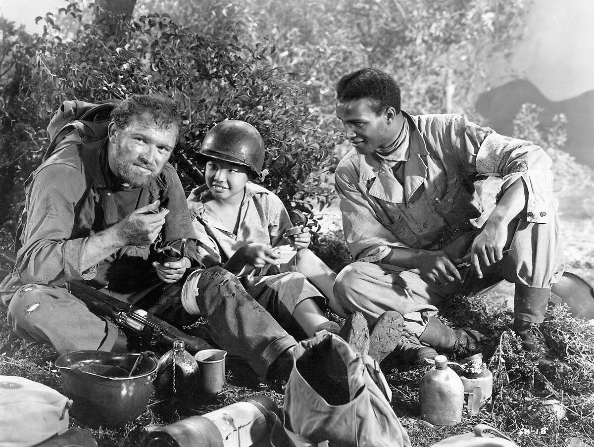 Lippert Pictures /Photofest The Steel Helmet (1951) Directed by Samuel Fuller Shown from left: Gene Evans, Willie Chun, James Edwards