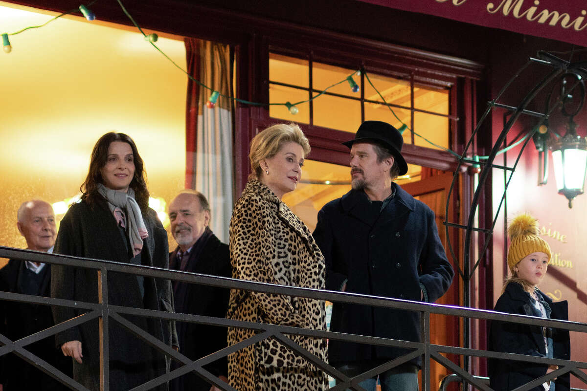 Foreground, from left: Juliette Binoche, Catherine Deneuve, Ethan Hawke and ClA©mentine Grenier in