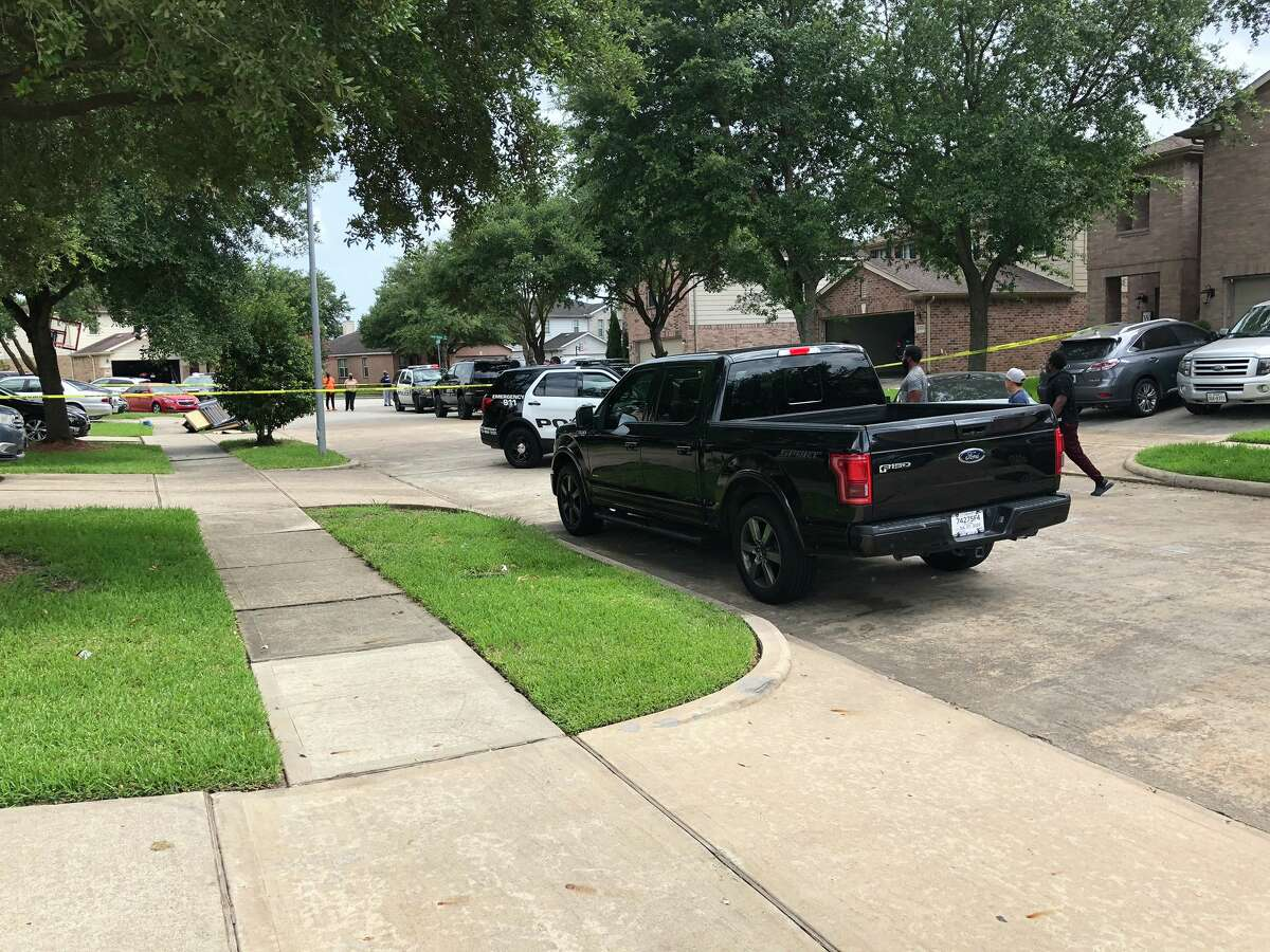 A Fort Bend ISD police officer said he shot his wife Monday at a south Houston  home, police said.