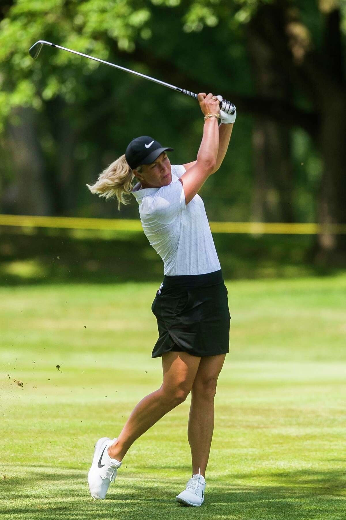 Suzann Pettersen plays in the first round of the Dow Great Lakes Bay Invitational last July at Midland Country Club. (Katy Kildee/kkildee@mdn.net)