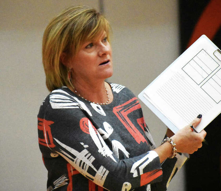 Lisa Orlet's second, and final, season as Edwardsville Tigers coach ended with a 32-7 record and honors as 2019 Telegraph Large-Schools Volleyball Coach of the Year.