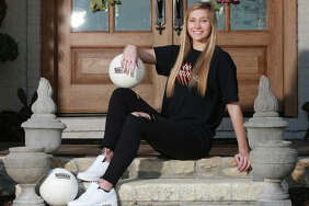 Edwardsville senior Maddie Isringhausen is the 2019 Telegraph Large-Schools Girls Volleyball Player of the Year. Isringhausen, the daughter of St. Louis Cardinals Hall of Famer Jason Isringhausen, will play Division I college volleyball at Tennessee Tech.