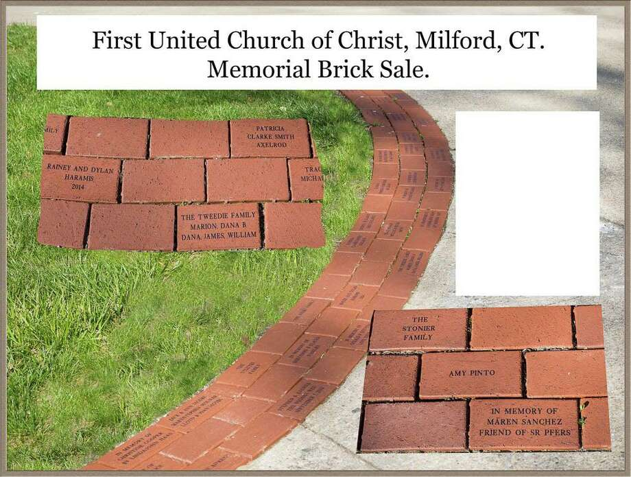 First United Church of Christ (Congregational) is receiving orders now through Oct. 1, 2020 for personalized bricks lining the walkway in front of its historic meetinghouse. Photo: First United Church Of Christ (Congregational)