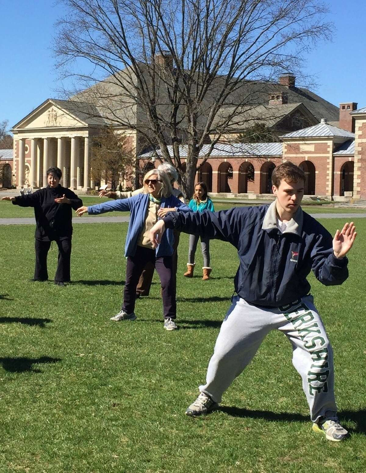 A COESA spring class on the lawn at SPAC (image courtesy SPAC).