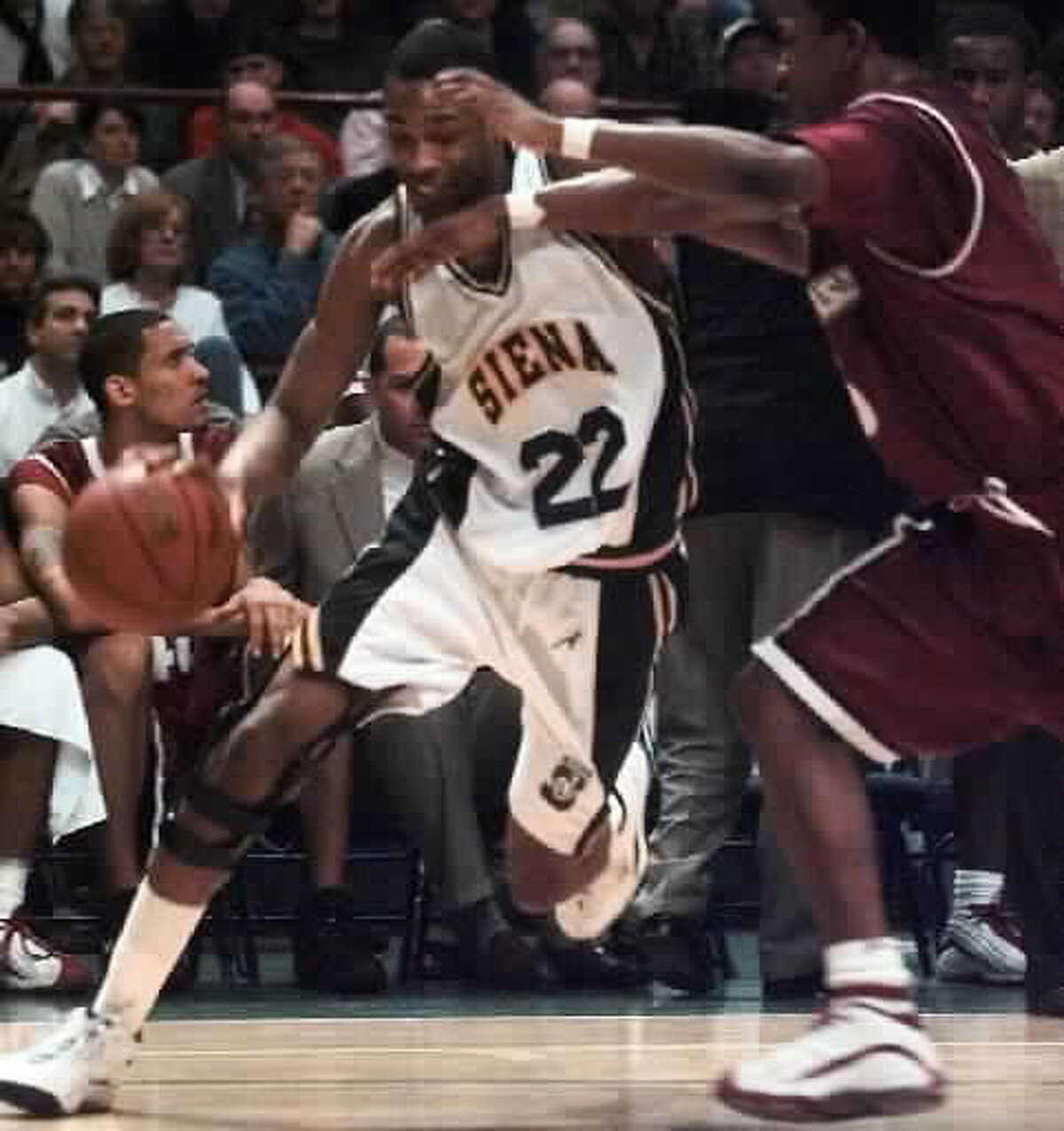 Marcus Faison led Siena basketball to the NCAA Tournament in 1999. (Times Union archive)