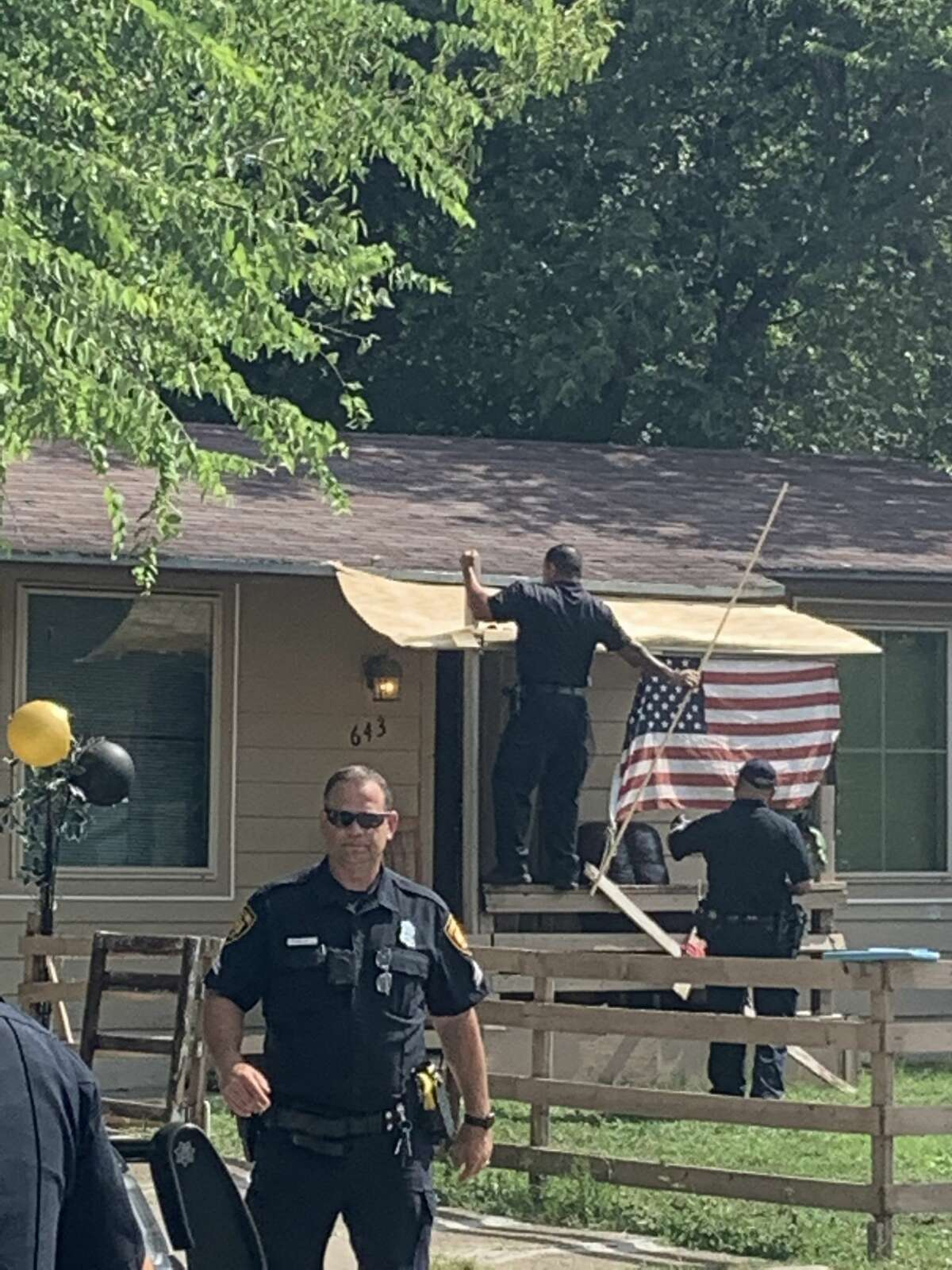 A mother and her son were stabbed after the woman was involved in a verbal altercation with her ex who showed up at her East Side residence, San Antonio police spokeswoman Alisia Pruneda said.
