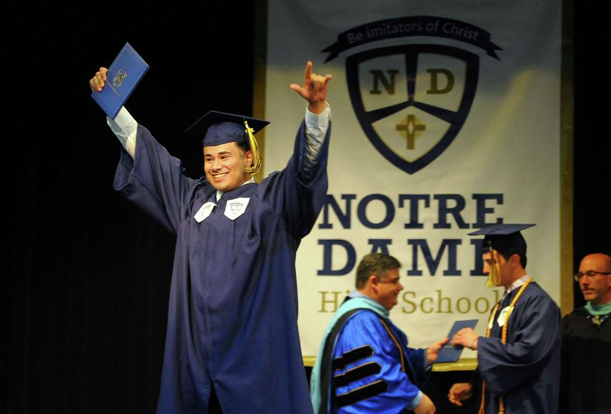 Notre Dame of Fairfield's Commencement Exercies in Fairfield, Conn., on Friday May 31, 2019.