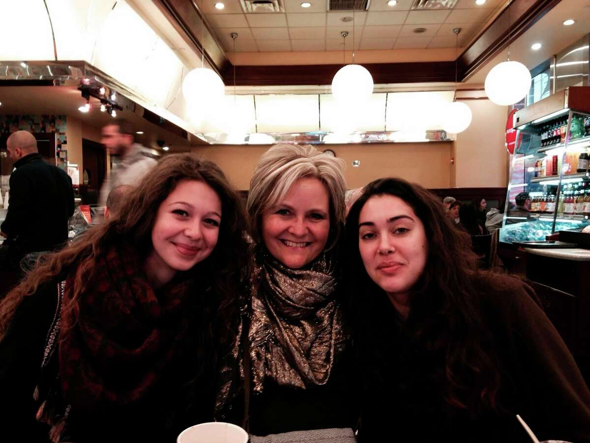 Natalia (left) from Slovakia,Michelle (middle), and Iria (right) from Spain enjoy visiting NYC. (Courtesy Photo)
