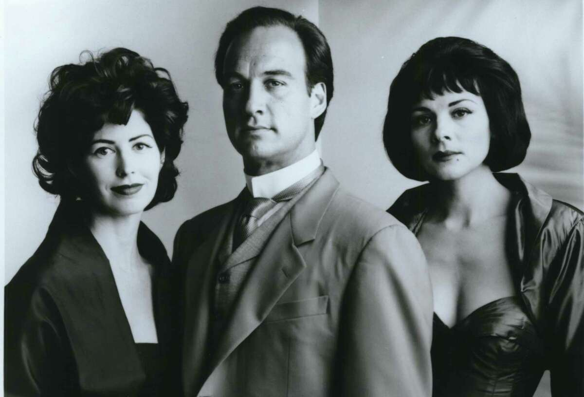 Harry Wyckoff (James Belushi) is caught between his wife (Dana Delany, left) and an old friend (Kim Cattrall) in the ABC event series