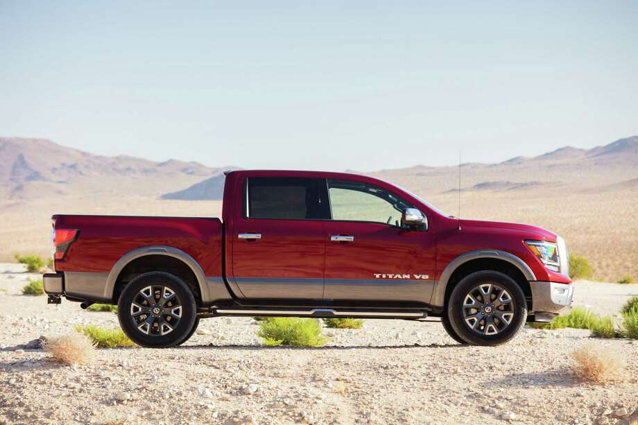 The 2020 Nissan Titan PRO-4X 4X4 Crew Cab features a maximum towing capacity of 9,210 pounds and a 15 mpg city, 21 mpg highway fuel economy. Photo: Nissan Newsroom/ Contributed Photo / Nissan