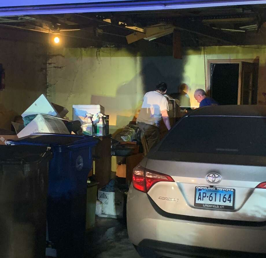 Shelton firefighters quickly extinguished a fire in a garage at a Christine Drive home Monday, July 6. Photo: Contributed Photo / Connecticut Post
