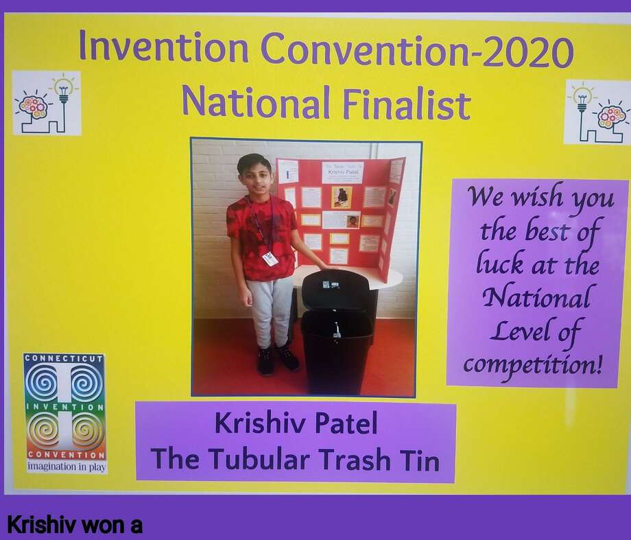 Krishiv Patel, now a rising seventh grader, was among 435 students from across the country to win an award at the fifth annual Invention Convention U.S. Nationals. Photo: Contributed Photo / Connecticut Post