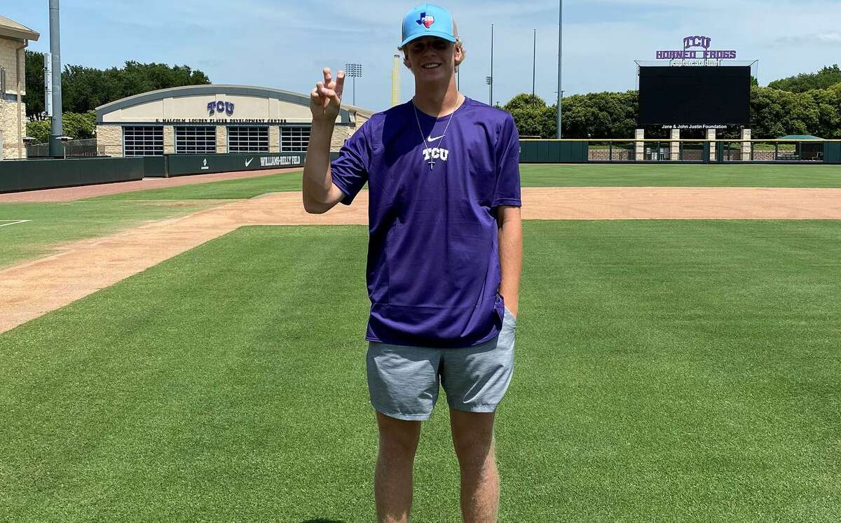 The Woodlands Christian Academy senior Caedmon Parker recently announced his commitment to TCU to play baseball.
