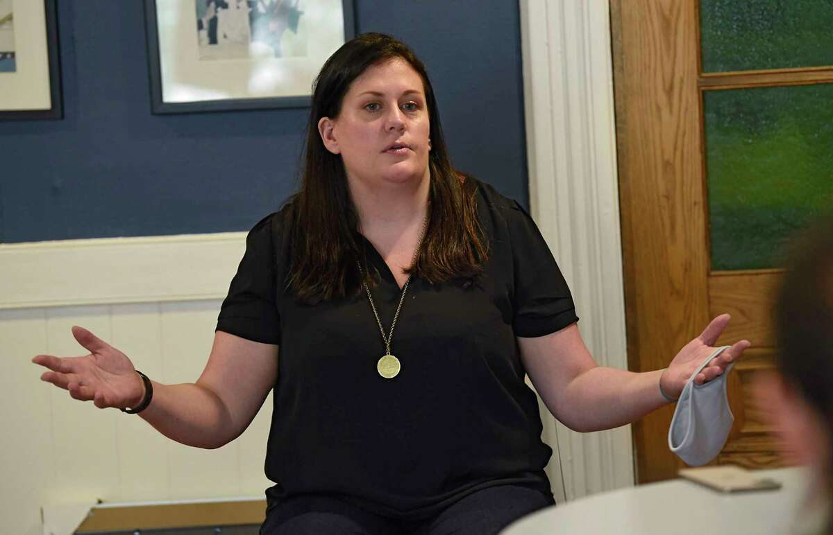 Commissioner of Public Safety Robin Dalton, seen here on Wednesday, July 1, 2020 in Saratoga Springs, N.Y., said Chris Obstarczyk's accusations are ridiculous and desperate. (Lori Van Buren/Times Union)