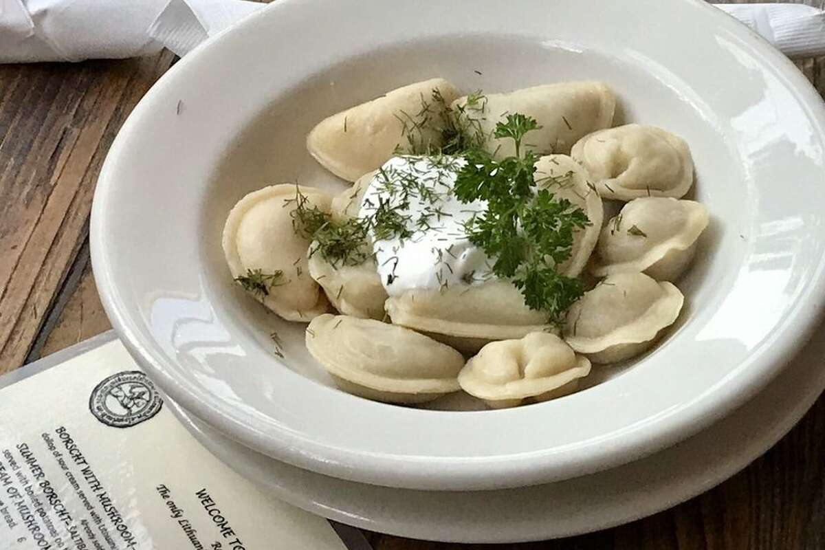 Flour dumplings at Mama Papa Lithuania in Alameda. The 7-year-old restaurant is closing July 31.