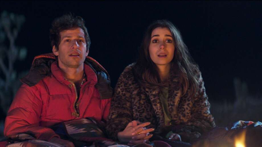 "Andy Samberg and Cristin Milioti co-star in Hulu's new infinite time loop movie ""Palm Springs."" Photo: Courtesy Of Hulu"