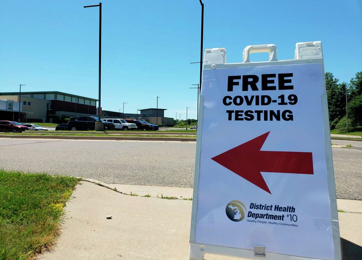 The District Health Department No. 10 will offer free COVID-19 testing at Trinity Fellowship EFC Parking Lot in Big Rapids on Wednesday and Thursday. The National Guard will be able to administer 1,500 tests each day. (Pioneer News Network photo/Arielle Breen)