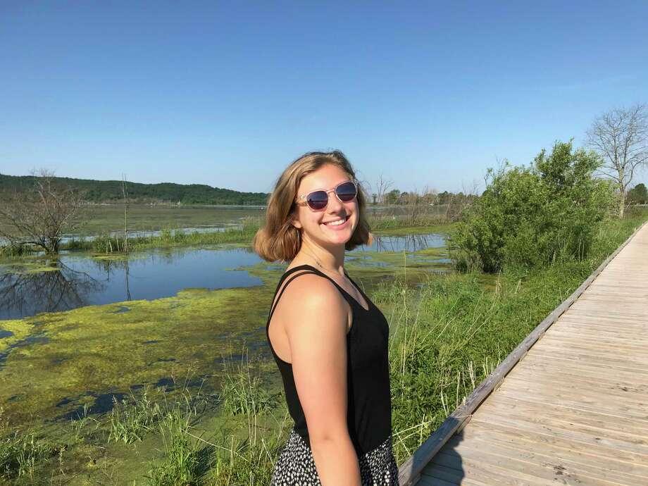 Sierra Pallin enjoys her first trip to the Arcadia Marsh Nature Preserve. (Photo/Robert Myers)