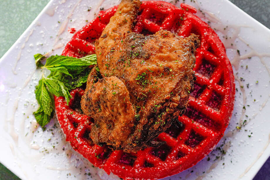 Rosalie & Main, chicken and waffles. Photo: Rosalie & Main