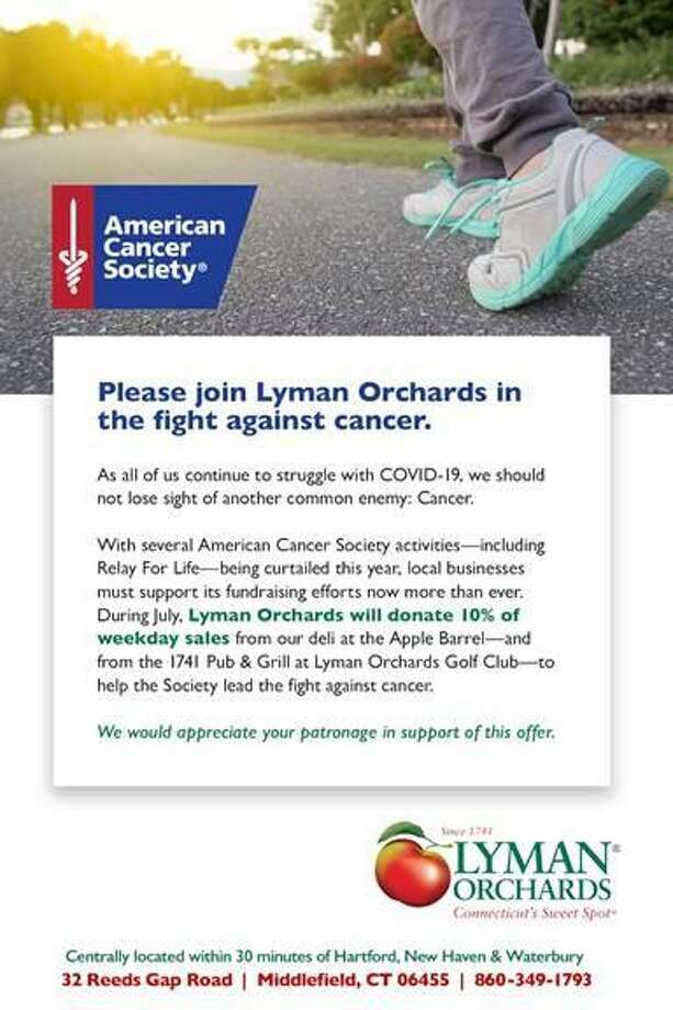Lyman Orchards has partnered with the American Cancer Society. Photo: Contributed Photo