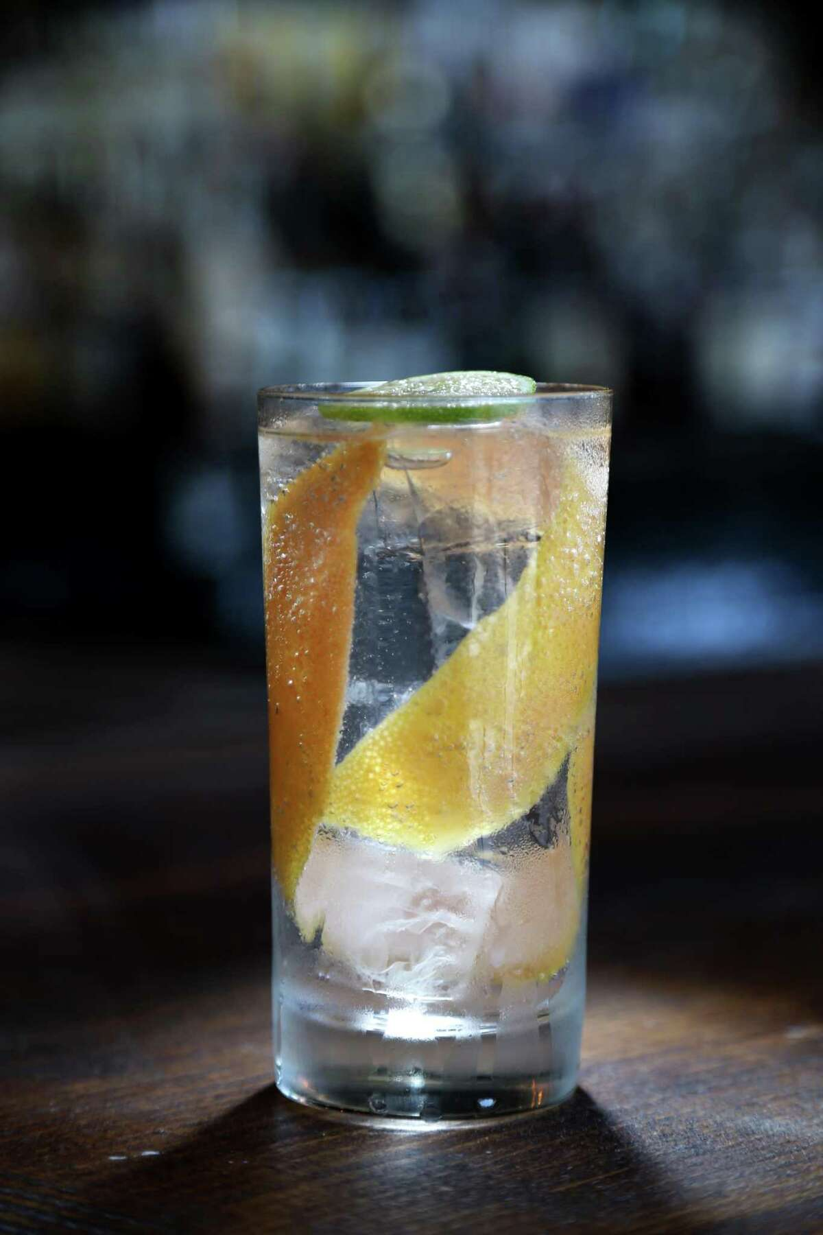 Ranch Water at Eight Row Flint involves sotol, lime juice, salt, carbonated water and grapefruit peel.