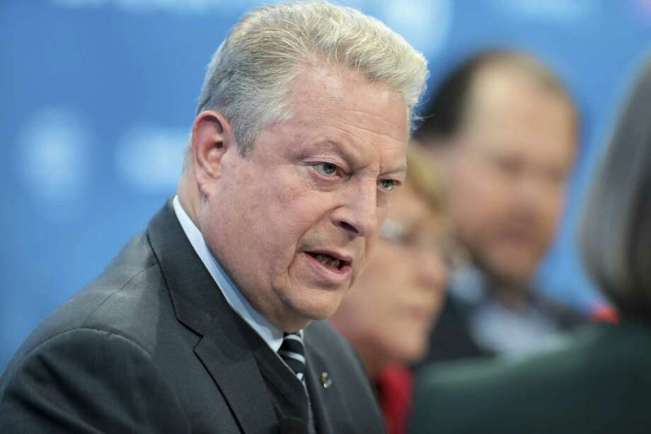 Former Vice President Al Gore speaks during a Bloomberg panel session at the World Economic Forum in Davos, Switzerland, on Jan. 23, 2019. Photo: Bloomberg Photo By Jason Alden. / © 2019 Bloomberg Finance LP