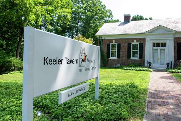 The entrance to the Keeler Tavern Museum in Ridgefield.