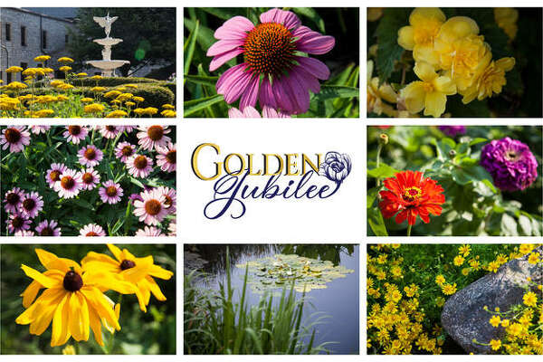 Flowers, foliage and 50 years make the Monticello Sculpture Gardens' 2020 interactive summer garden show, Golden Jubilee, a celebration to remember. Located at Lewis and Clark Community College in Godfrey, this year's display is a journey through five decades among its 12 pocket gardens.