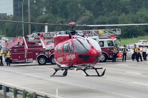 Two children, 11 and 13, died at the hospital after a wreck along Interstate 45 near the Hardy Toll Road on Tuesday, July 7, 2020.