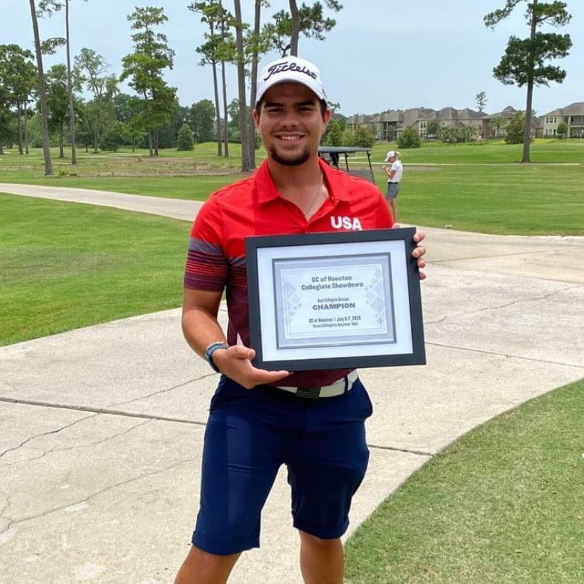 UTSA golfer and Montgomery High School alum Hunter Bott won the Golf Club Houston Showcase, a tournament put on by the Texas Collegiate Amateur Tournament, at Golf Club of Houston on Tuesday, July 7, 2020.