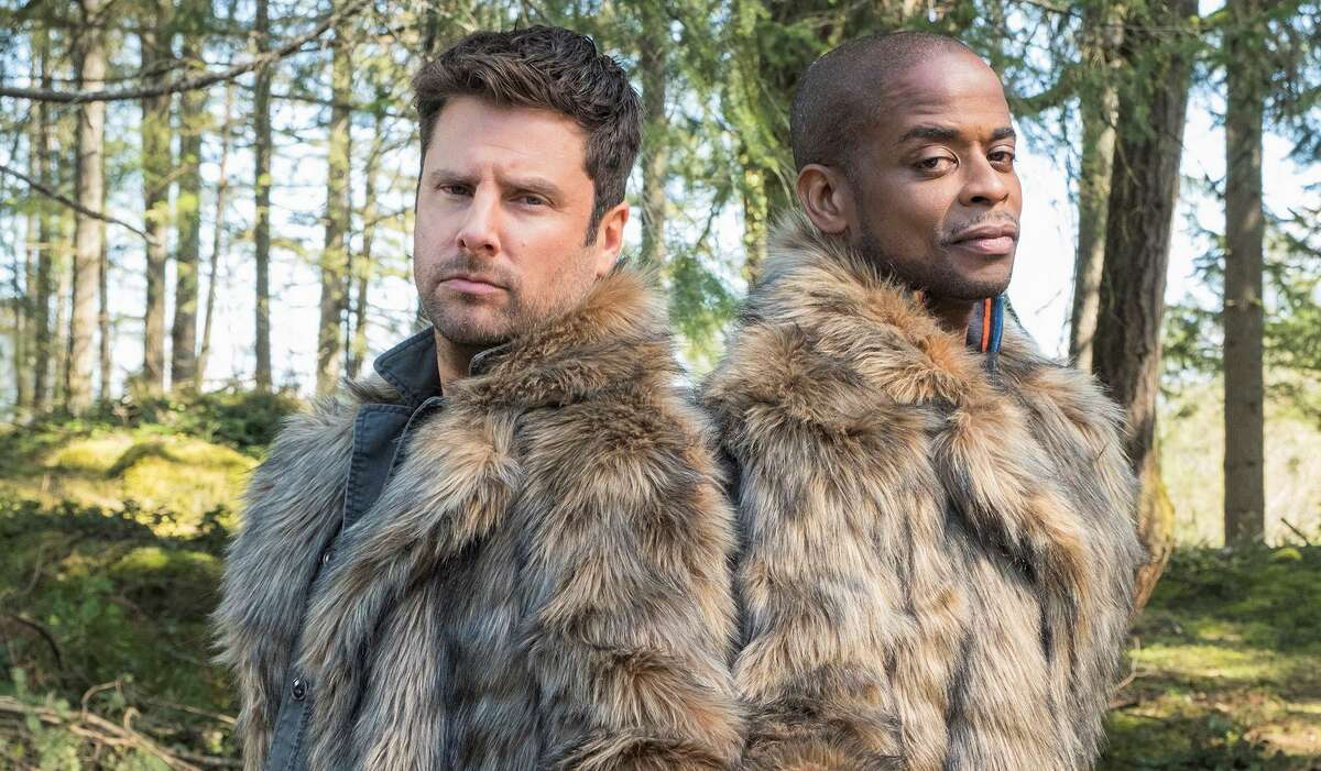 San Antonio's James Roday and Dulé Hill as lead cut-ups Shawn Spencer and 'Gus' Guster in mystery movie romp, 'Psych 2: Lassie Come Home.'
