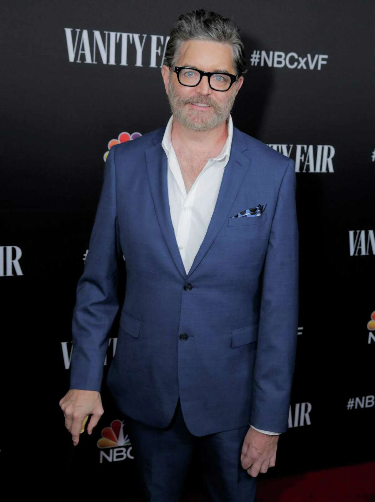 Tim Omundson, who came back from a stroke to star in 'Psych 2' and followed that up with a guest-star turn in 'This Is Us,' poses at an NBC party late last year.