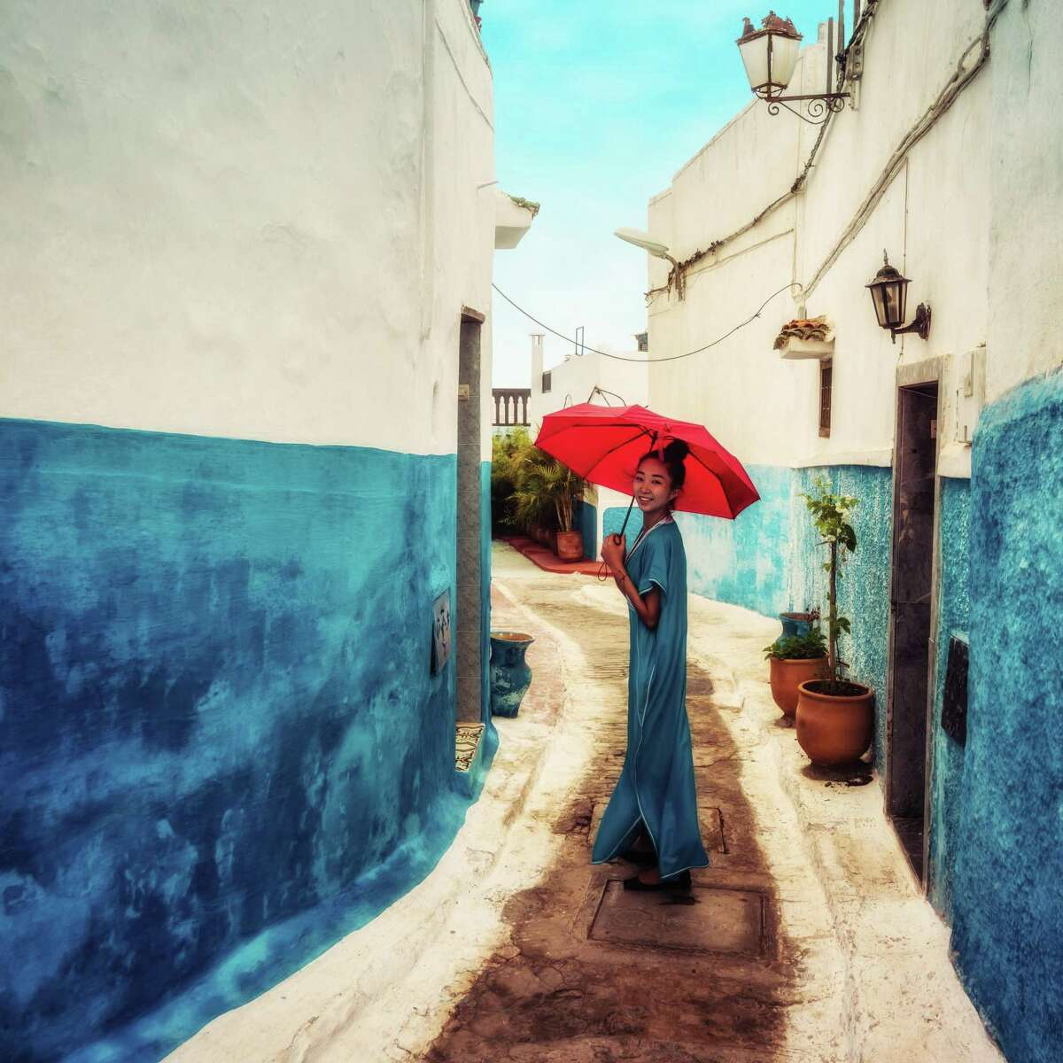 The inspiration for the caftan craze is the djellaba, made in Chefchaouen, Morocco.