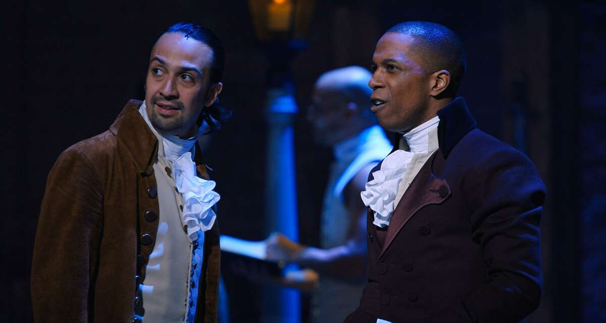 Lin-Manuel Miranda and Leslie Odom Jr. in