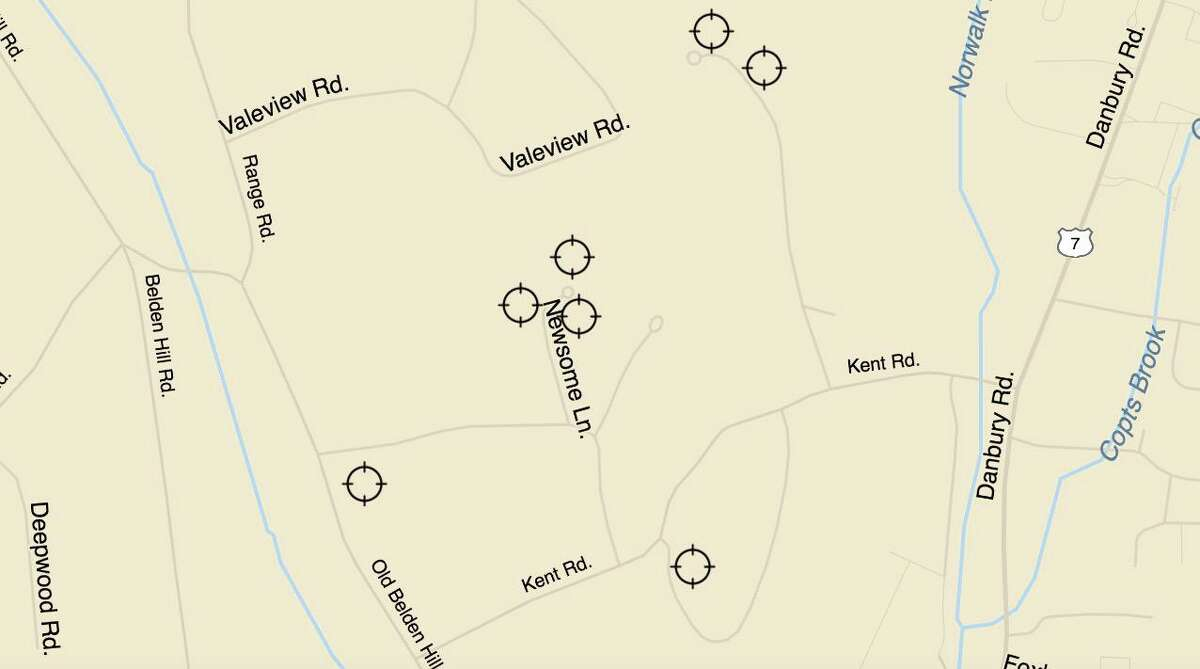 On July 7, police received reports or three motor vehicle burglaries on Newsome Lane, two on Kent Hills Lane and one on Chipmunk Lane. A car was stolen from a home on Old Belden Hill Road.