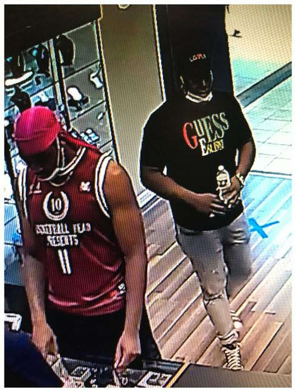 Milford, Conn., police are looking to identify these two pictured individuals who they say were linked to a recent larceny from the Connecticut Post Mall.