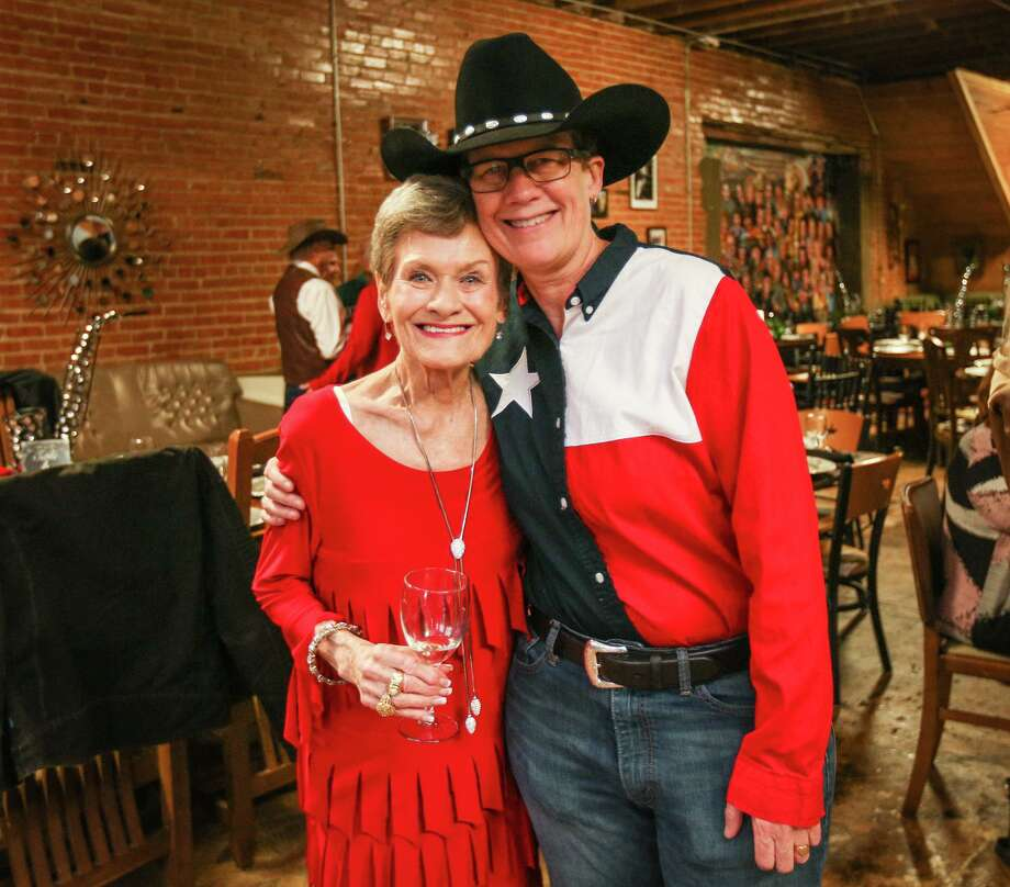 Shirley Pruitt, left, and artistic director Emelyne Bingham pose for a photo during the Bach, Beethoven & Barbecue gala prior to the Young Texas Artists Concert on Saturday, March 11, 2017, at Martin's Hall in downtown Conroe. A longtime supporter of the arts in Conroe, Pruitt passed away on May 8. Photo: Michael Minasi, Staff Photographer / Houston Chronicle / © 2017 Houston Chronicle