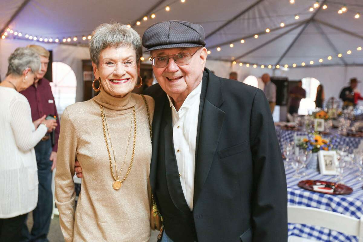 Shirley and Lee Pruitt pose for a photo at the Bach, Beethoven & Barbecue Fundraiser on Saturday, March 12, 2016, outside of the Crighton Theatre. Shirley Pruitt died in May at 85.