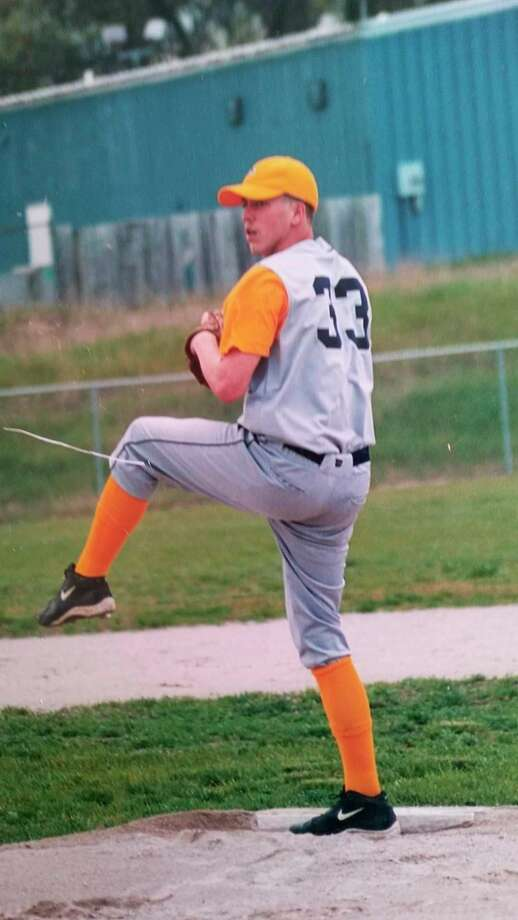 Former Baldwin pitcher Kyle Himes gets set to deliver a pitch during his high school days. (File photo)
