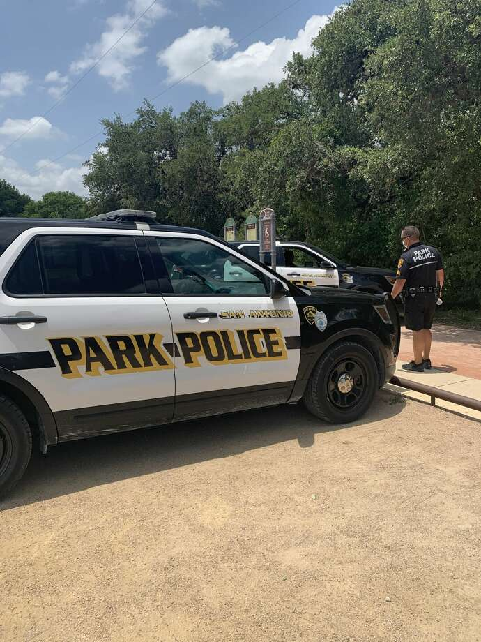 "Two women found a man dead and ""tangled"" in a bike while walking Wednesday on the Salado Creek Greenway, according to SAPD spokesperson Doug Greene. Photo: Taylor Pettaway"