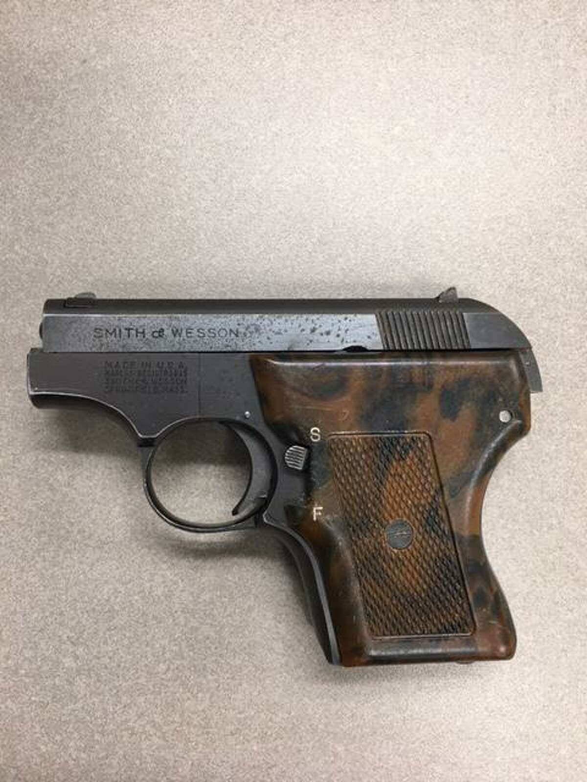 A Smith & Wesson .22 caliber semiautomatic handgun was found by Stamford Police on Dale Street on Sunday, July 5.