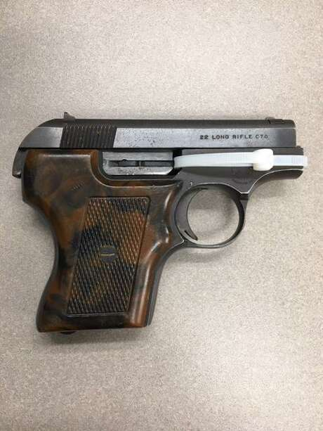 A Smith & Wesson .22 caliber semiautomatic handgun was found by Stamford Police on Dale Street on Sunday, July 5. Photo: Contributed Photo
