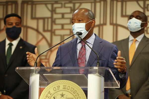 Mayor Sylvester Turner, shown June 10, 2020, and Houston First have moved to cancel the Texas Republican convention in Houston.