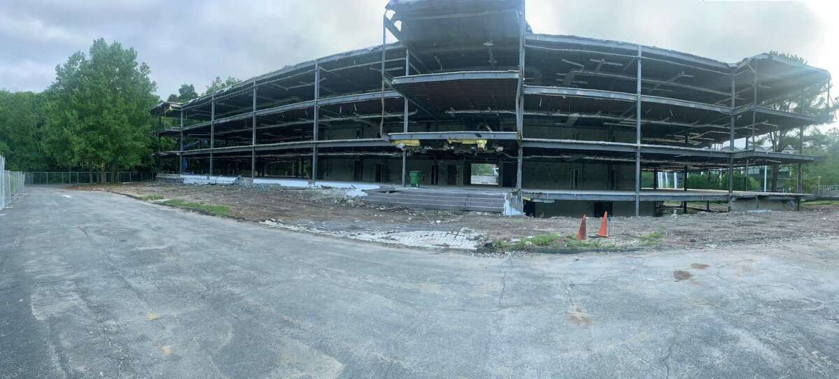 Building 3 in High Ridge Office Park is partially demolished in this photo from July 7. The office park owner, George Comfort & Sons, wants to make way for a LifeTime Fitness center.