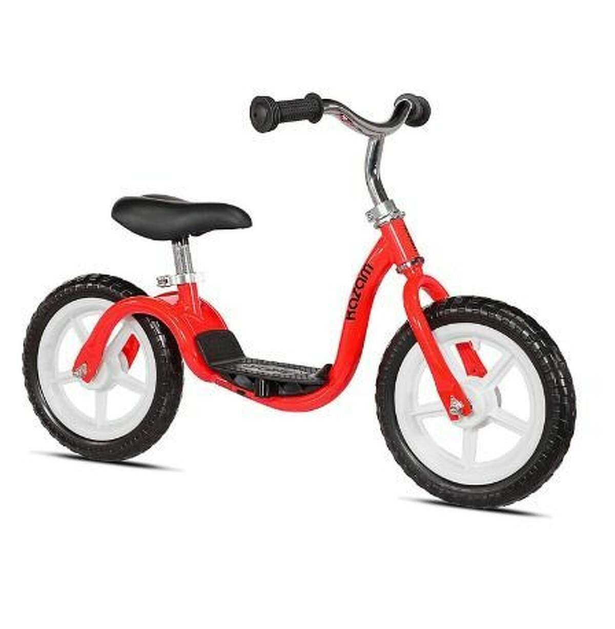 KaZAM Balance Bike: $97.20 Shop Now If you've been hunting around for a balance bike so your kid can breeze down the block without any training wheels, you've probably been seeing the KaZAM brand just about everywhere. This option features a patented step-in footrest design, so your kid will look and feel like he's riding a regular bike. More: These Outdoor Toys Will Turn Your Backyard Into Your Own Personal Summer Camp