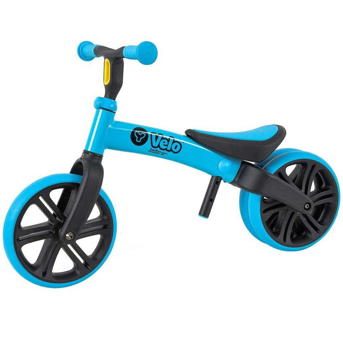 Yvolution Y Velo Junior Toddler Bike : $59.99 Shop Now If warm weather and the call of the playground aren't enough to lure your toddler outside to play, this bright blue balance bike will definitely do it. The soft-grip handles are comfy to hold, and both the seat and handlebar are easy to adjust as your tot grows. The double width back wheel helps your toddler master bike balancing so that they can spend more time riding than tumbling.