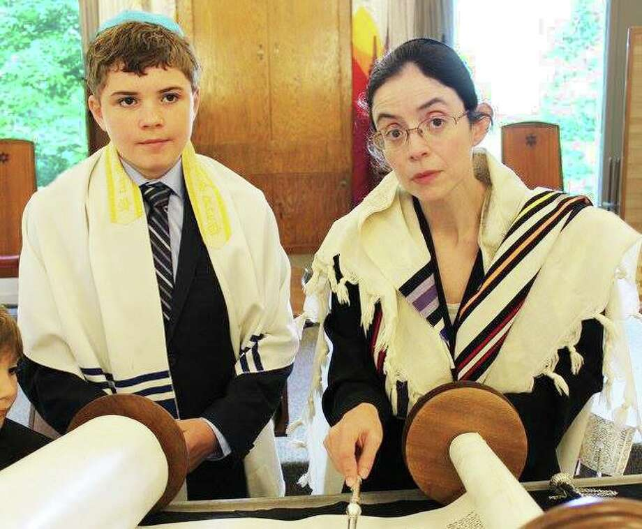 Rabbi Nelly Altenburger, right, joined Congregation Adath Israel at 8 Broad St., Middletown, July 1. She is the first woman rabbi to lead the parish. Photo: Photo Courtesy Rabbi Nelly Altenburger