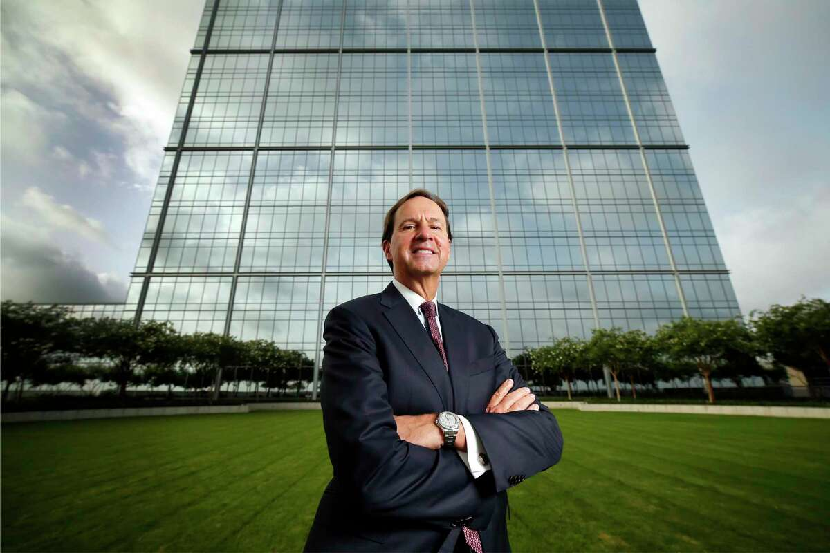 Paul Layne, CEO of the Howard Hughes Corp., at an outside area of the The Woodlands Towers at The WaterwayThursday, July 2, 2020 in The Woodlands. The company recently acquired the complex where Occidental Petroleum is a tenant.